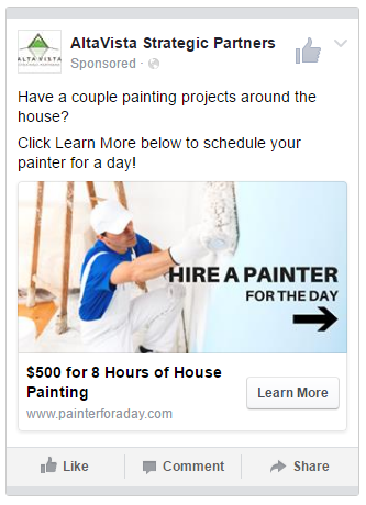 Facebook Lead Ads are a great way for contractors to capture leads for special offers.