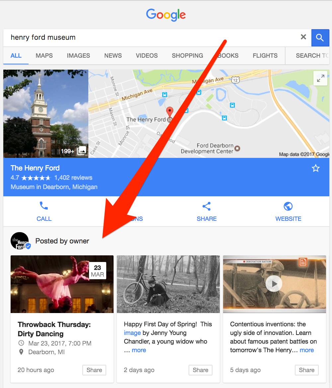 Google Posts Example