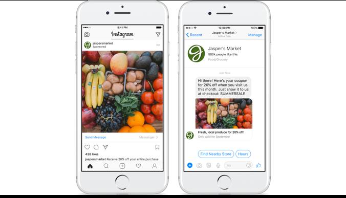 Instagram Ads Connect to Facebook Messenger