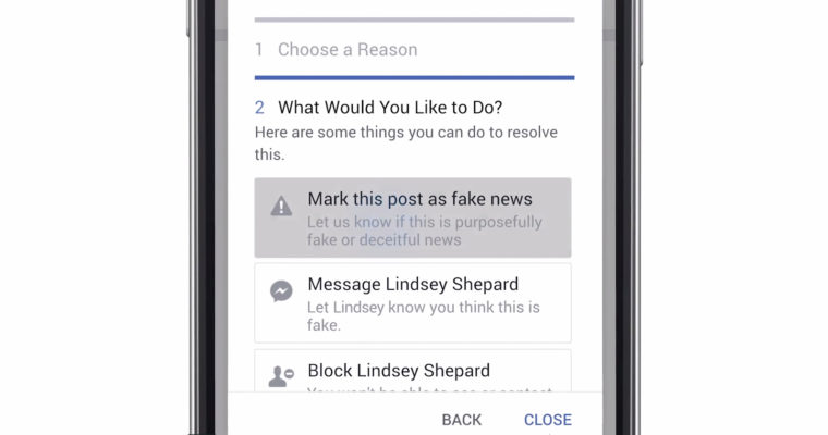 Facebook Fake News Tool