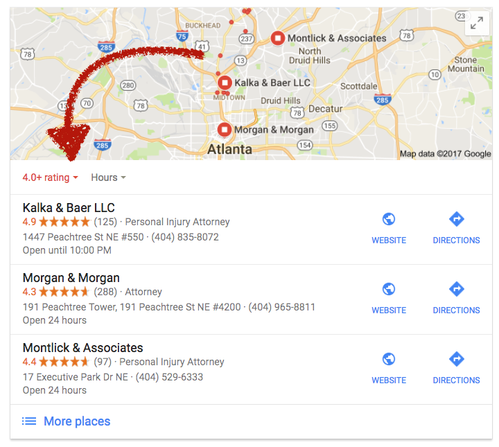 Google expanding presence of ratings in local search results